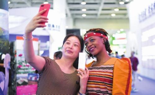 2019年6月在湖南长沙举办的第一届中国-非洲经贸博览会。资料图片