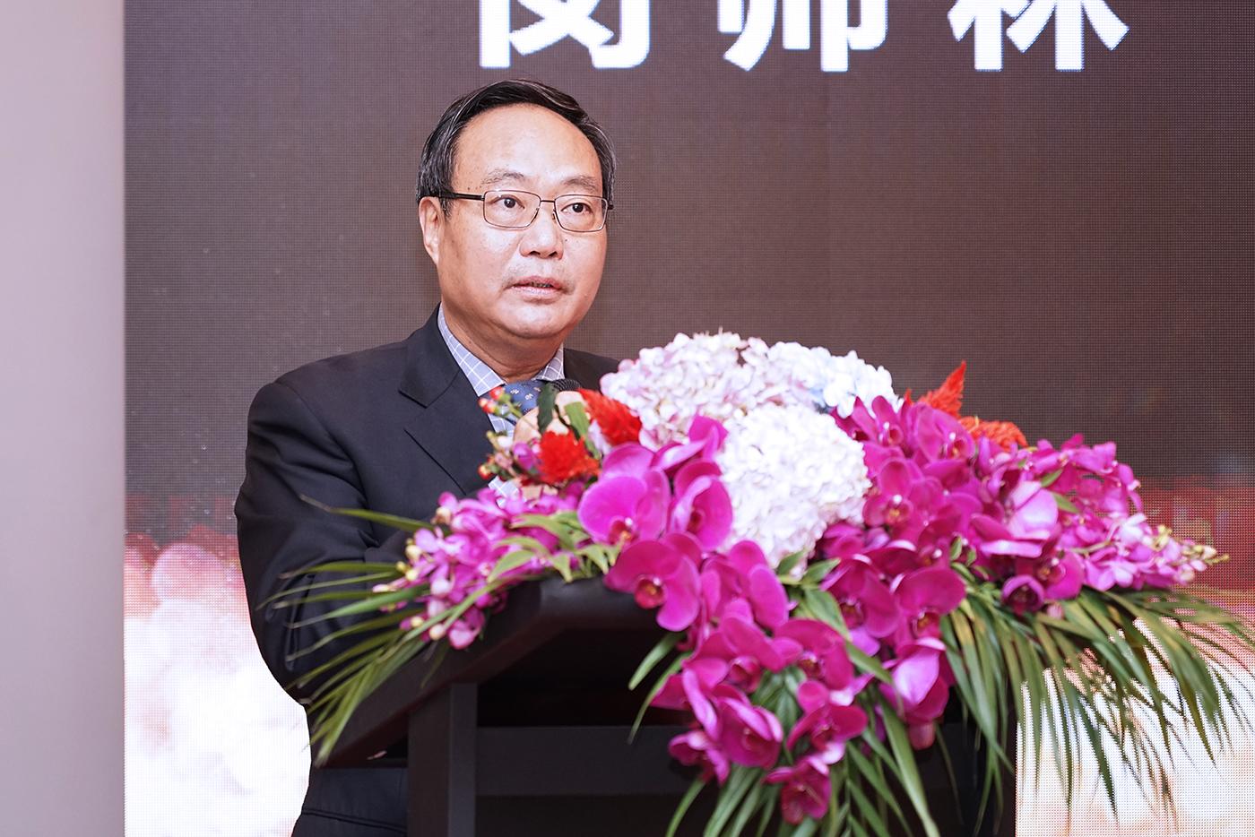 上海虹桥商务区管理委员会党组书记、常务副主任闵师林在开幕式上致辞。