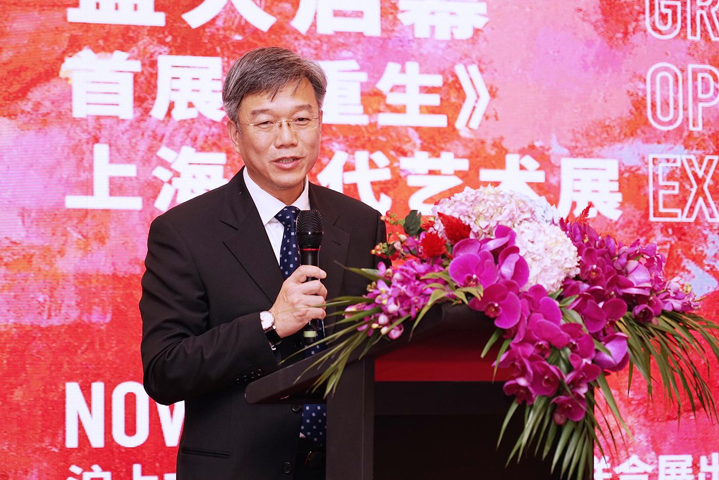 上海市对外文化交流协会文艺处处长吴忠民出席开幕活动并致辞。