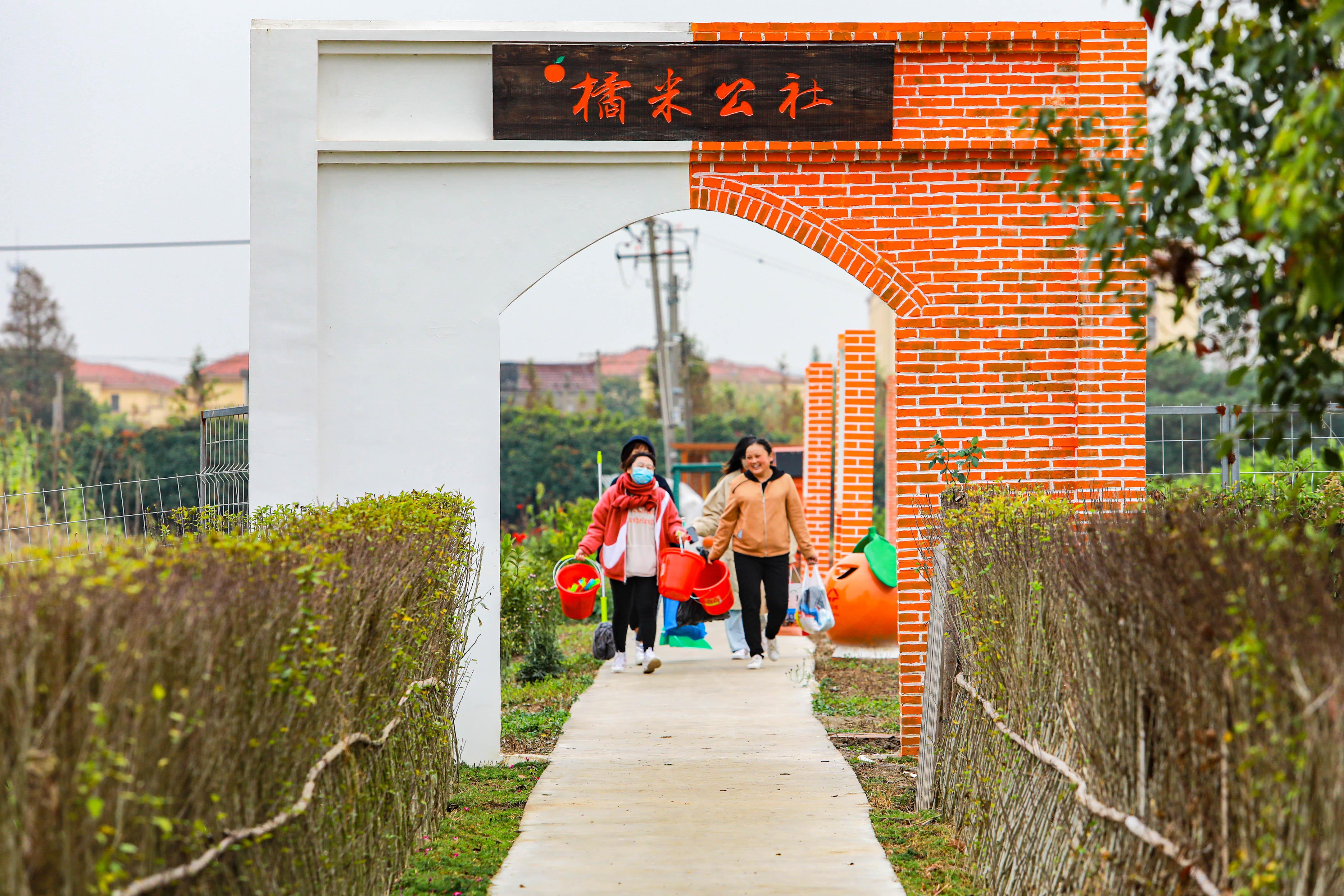 """""""橘米公社""""是一座由华严村集体土地、集体资金、集体劳动投入、村民共享的园林式农业庄园。"""