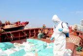 揭阳市在惠来县海域破获一起海上特大走私香烟案 案值约1800万元
