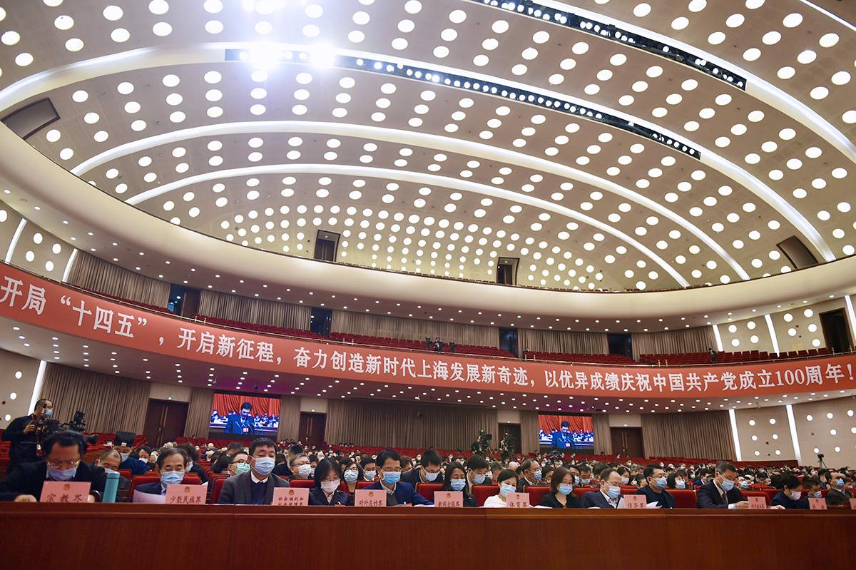 1月23日,政协上海市第十三届委员会第四次会议在上海世博中心举行。 (1)