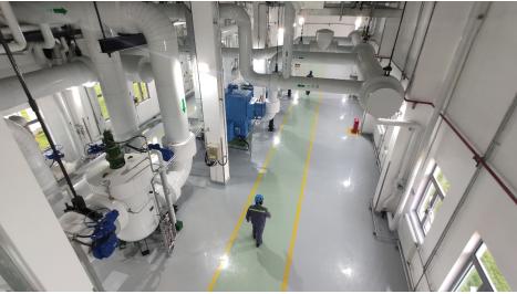 图为海阳核能供热项目厂内换热首站。供图:山东省能源局