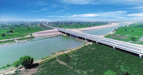 PKM项目萨特莱杰河大桥。中国建筑/供图