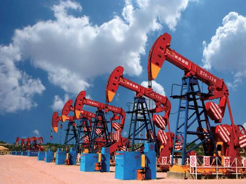 庆阳油气产能建设项目现场。