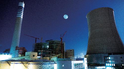 甘肃电投常乐电厂调峰火电项目。甘肃省发展改革委 供图