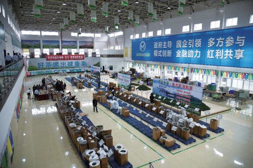 贵州针茶交易平台交易现场。