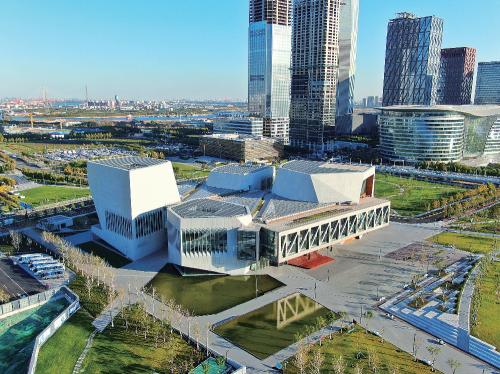 中冶天工集团施工总承包的天津茱莉亚学院项目全景图。中冶天工集团 供图