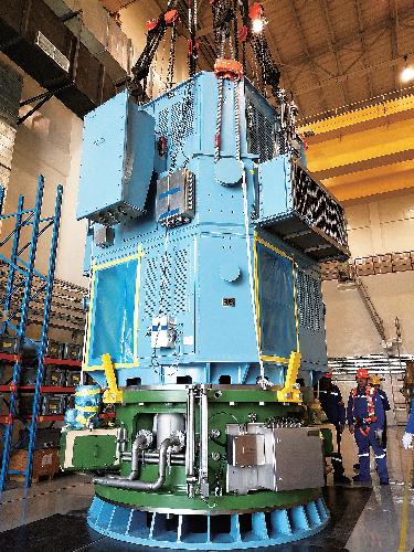 华龙一号轴封式核主泵。哈电集团 供图