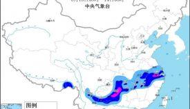 暴雨黄色预警:安徽湖南浙江贵州云南等地部分地区有大暴雨