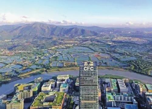 从深圳河套地区远眺香港。刘宝/供图